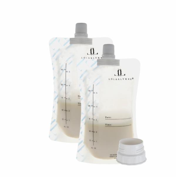 Пакетики для хранения грудного молока (10шт.) + адаптер